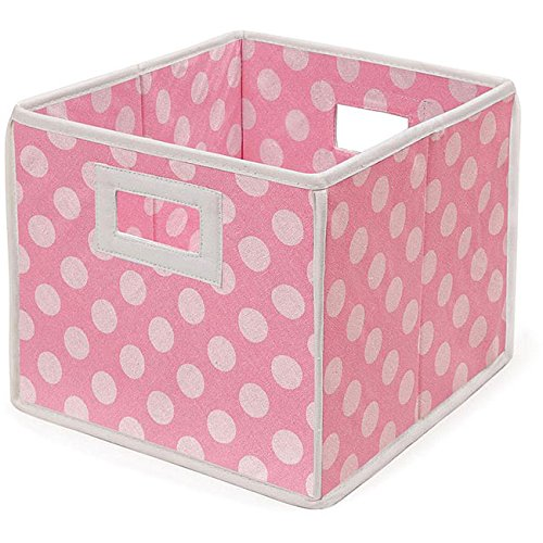 Pink Polka Folding Storage Baskets product image