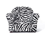 Keet Roundy Faux Fur Children's Chair, Zebra