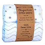 Luvberries-Sheets-Set-of-2-for-The-BabyBjorn-Travel-Cribs-with-Safety-tab-Slots-100-Organic-Cotton-Crib-Sheets-Baby-and-Toddler-Fitted-Crib-Sheets-for-Boys-Girls