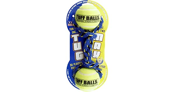 Amazon.com: petsport EE. UU., Tuff bolas Tug Max Dog Toy ...