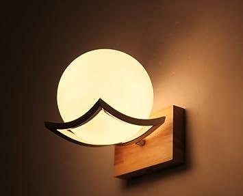 Bois minimaliste creative led lampe de mur de style japonais