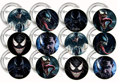 Venom Buttons Party Favors Supplies Decorations Collectible Metal Pinback Buttons Pins - Large 2.25
