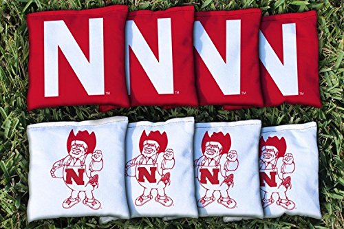 8 College Vault Nebraska Cornhuskers Regulation Corn Filled Cornhole Bags