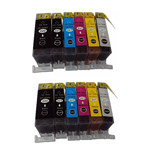 Pgi 220 Combo Pack - Superb Choice® Remanufactured ink Cartridge for Combo Pack Canon PGI-220(2 Black) CLI-221(2 Black+2 Cyan+2 Magenta+2 Yellow) with Free CLI-221(2 Gray)