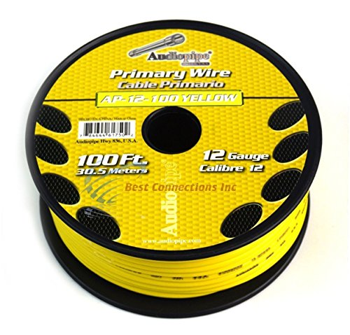 12 GA PRIMARY POWER GROUND WIRE (4) 100FT ROLLS BOAT CAR 12-80 VOLT MULTI COLOR by Audiopipe (Image #7)