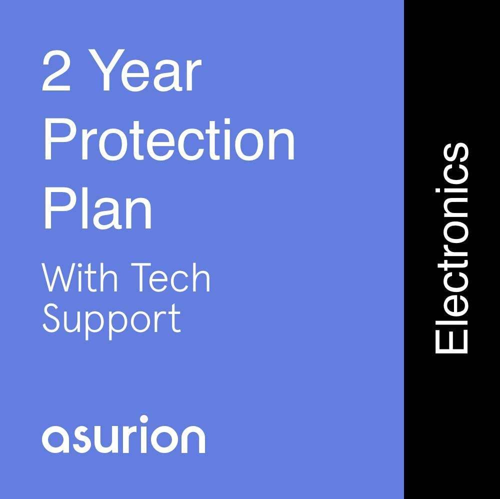ASURION 2 Year Electronics Protection Plan with Tech Support $125-149.99