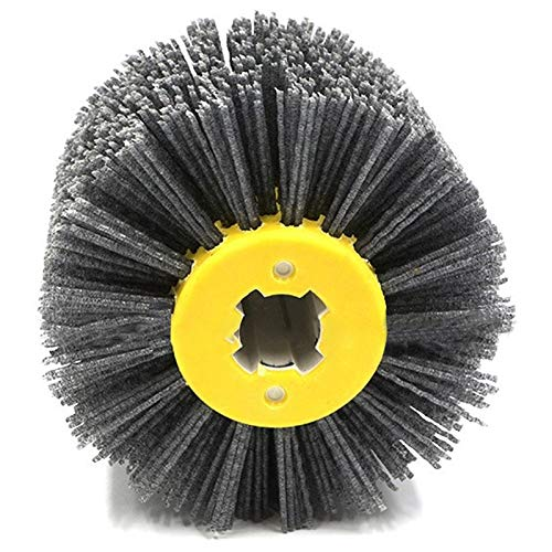 Nrpfell P120 1 Pcs Nylon Abrasive Wire Dupont Drum Polishing Wheel Electric Brush For Woodworking Metalworking