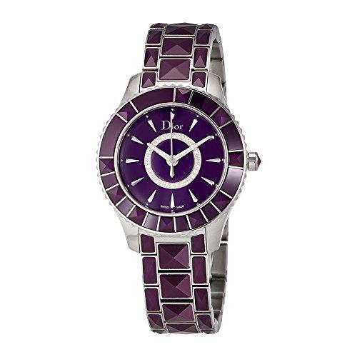 Dior New Christal Purple Diamond Dial Ladies Watch - Lady Purple Dior