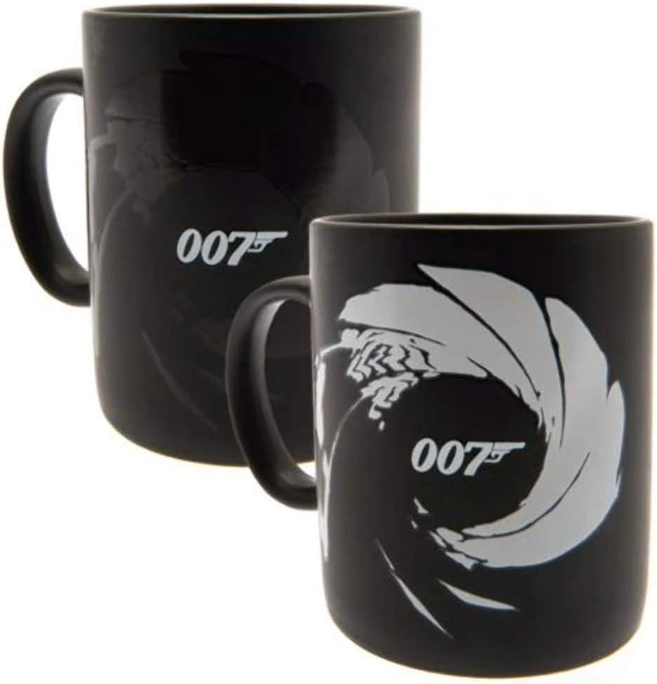 James Bond SCMG25416 - Taza termorreactiva (315 ml), diseño de James Bond 007