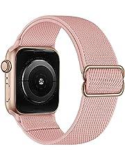TopTen Elastiskt klockarmband kompatibelt med Apple Watch-rem, mjukt tyg nylonarmband justerbart stretcharmband ersättning för iWatch serie 6,5,4,3,2,1 38 mm 40 mm 42 mm 44 mm