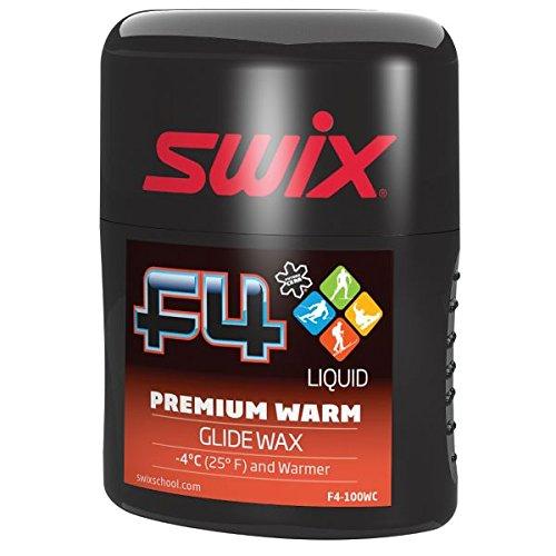 Swix F4 Premium Warm Performance Wax Rub On with 100ml Sponge Top Applicator, Black