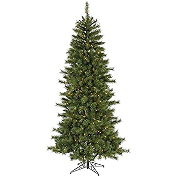 Vickerman Pre Lit Slim Newport Mixed Pine Artificial Christmas Tree With  Clear Lights, 9