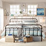 INSPIRE Q Giselle Antique Dark Bronze Graceful Lines Victorian Iron Metal King-sized Bed Frame