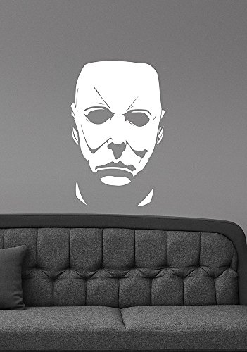 Michael Myers Wall Decal Halloween Movie Character Vinyl Sticker Friday the 13th Scary Art Decorations for Home Room Bedroom Horror Decor mmh1 ()