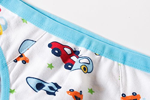 BOBO Kids Little Boys Car Briefs Underwear Toddler (Pack Of 6) Size 7-8 by BOBO Kids (Image #1)