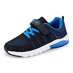 CHUI Kids Sneakers Boys Casual Breathable Running Walking Shoes For Girls Soccer Shoes Blue (Little Kids/Big Kids).CSK035N1-34