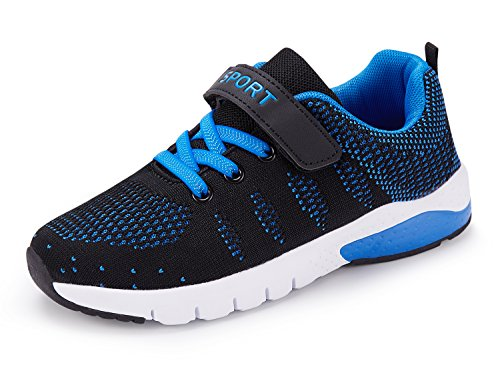 Boys Tennis Shoes - Caitin Kids Running Tennis Shoes Lightweight Casual Walking Sneakers For Boys and Girls,1#blue,US 2 M Little Kid