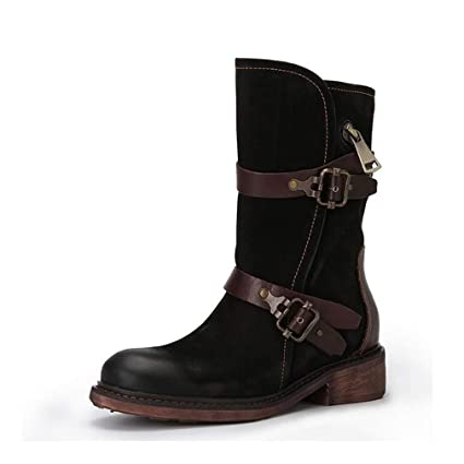 442900f6ab8 Amazon.com: Hy Women's Boots,Fall/Winter Leather Retro Booties ...