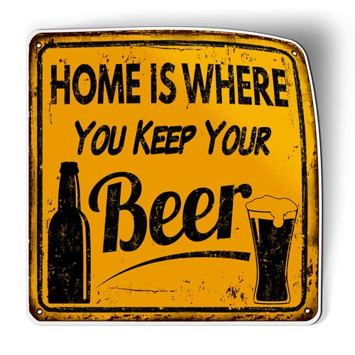 Home is Where You Keep Your Beer - Flexible Magnet - Car Fridge Locker - 6