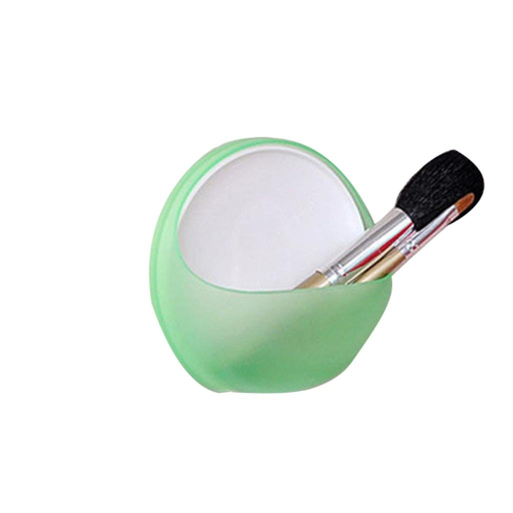 Dingji Plastic Suction Cup Toothbrush Soap Box Bathroom Shower Accessory (Green)