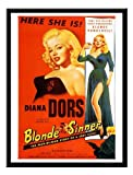 Iposters Blonde Sinner Diana Dors Movie Print 1950s Black Framed - 41 X 31 Cms (approx 16 X 12 Inches)