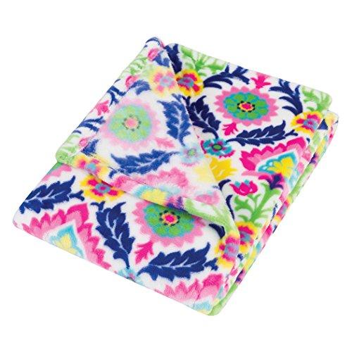 Santa Baby Gift (Trend Lab Plush Baby Blanket, Multi Waverly Santa Maria)