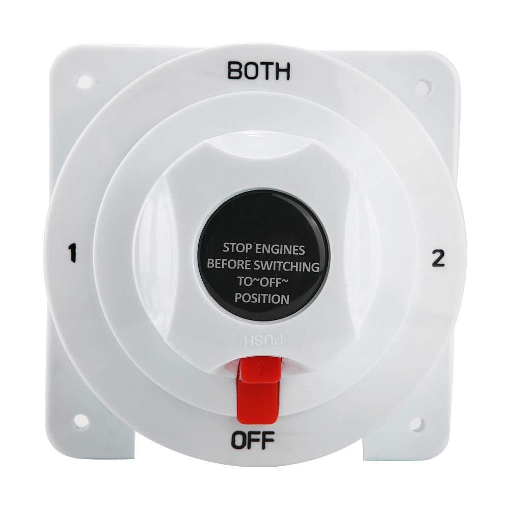 selettore di isolamento a doppia batteria BOTH//Off 12-36V per barca//camper//roulotte//yacht Interruttore batteria