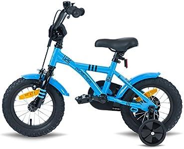 prometheus bicycles prometheus kinderfahrrad 12 zoll jungen und m dchen in blau schwarz ab 3. Black Bedroom Furniture Sets. Home Design Ideas