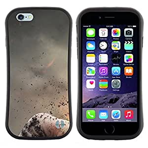 Apple (4.7 inches!!!) iPhone 6 , Radio-Star - Slim Fit Dual Barniz Protector Caso Case Funda ( Abstract Volcano Nature Fire Mountain Ash)