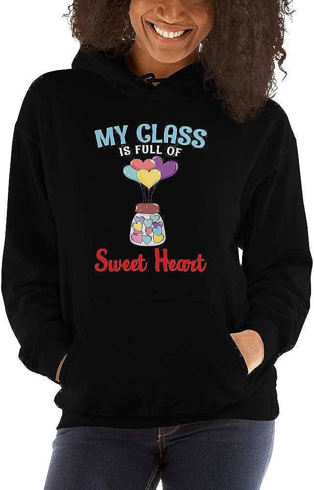 TEEPOMY My Class is Full of Sweet Heart Teacher Unisex Hoodie
