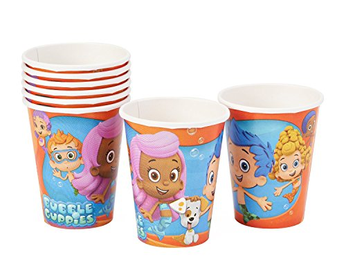 bubble guppies 9oz paper party cups 8 pack   import it all