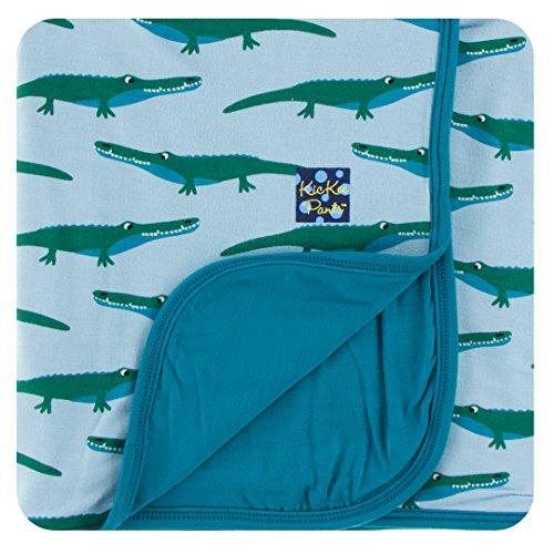 New Handmade Baby Receiving Blanket - Kickee Pants Baby Boys' Print Stroller Blanket in Pond Crocodile, Onesize