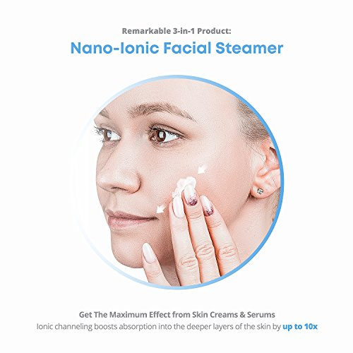 35ce6c206227c NanoSteamer Large 3-in-1 Nano Ionic Facial Steamer with Precise Temp ...