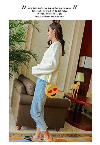 Handbag Emoji Purse Chain Crossbody Women Donalworld Shoulder Hard Pattern7 Case 8wUBWx5q