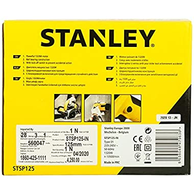 STANLEY STSP125 1320 Watt 5''/125mm Tile Cutter Machine (Yellow and Black) 14