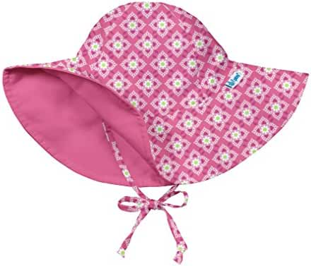 i play. Baby & Toddler Girls' Reversible Brim Sun Protection Hat