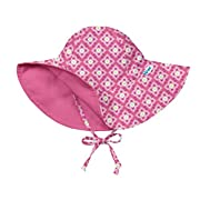 i play. Toddler Girls' Reversible Brim Sun Protection Hat, Pink Diamond Flower, 2T-4T