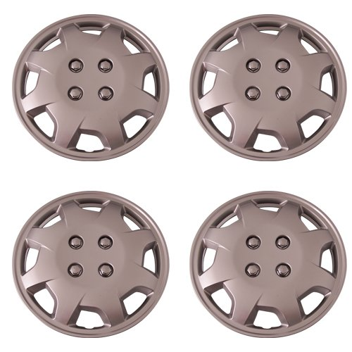 Number Metal Part (Set of 4 Silver 15 Inch Aftermarket Replacement Hubcaps with Metal Clip Retention System - Part Number: IWC124/15S)