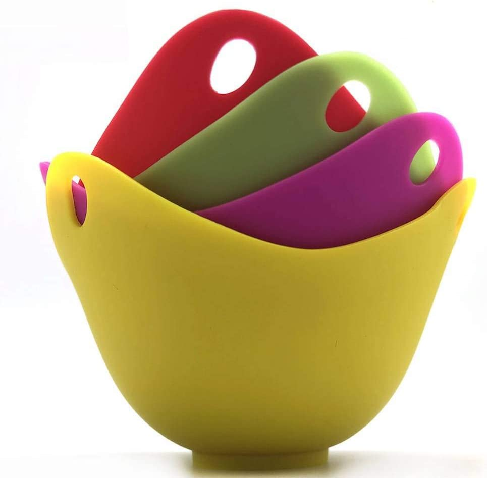 Egg cooker, silicone egg cooker cup without BPA, microwave egg cooker, 4 Pack