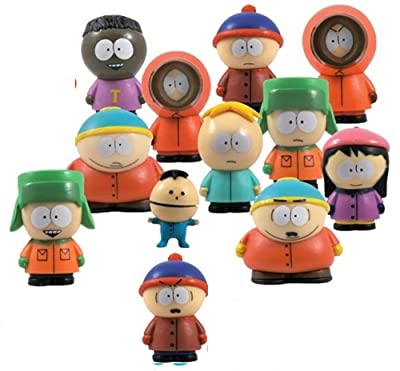 South Park Collectible Figurines Complete Set of 12 Pcs (1 Inch Tall Size) Figures