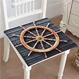 Mikihome Memory Foam Chair Pads Trawler Steering Wheel Captain Direction Control on Hardwood Timber Wall Cushion Perfect Indoor/Outdoor 16''x16''x2pcs