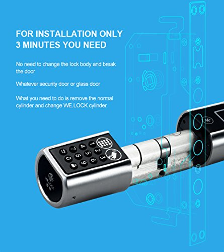 LOCK Smart Door Lock Unlock By Password And RFID card In ... & L5 PC+B: WE.LOCK Smart Door Lock Unlock By Password And RFID card In