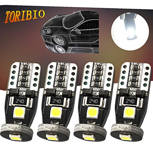 TORIBIO 4pcs T10 LED Bulb Super Bright 194 168 175 3030 PX Chipsets LED Bulbs Xenon White