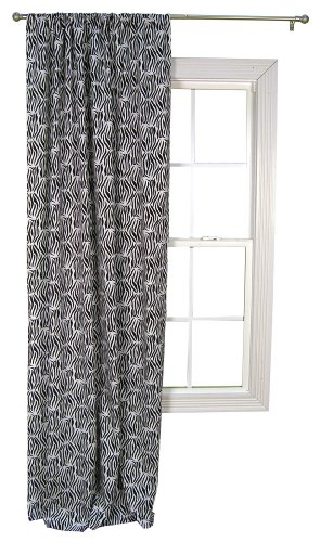 Trend Lab Window Drape Panel, Black/White Zebra Print ()