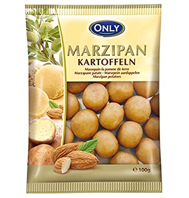 Only, Cocoa Dusted Marzipan potatoes 100g bag (Marzipankartoffeln) (4 pcs)