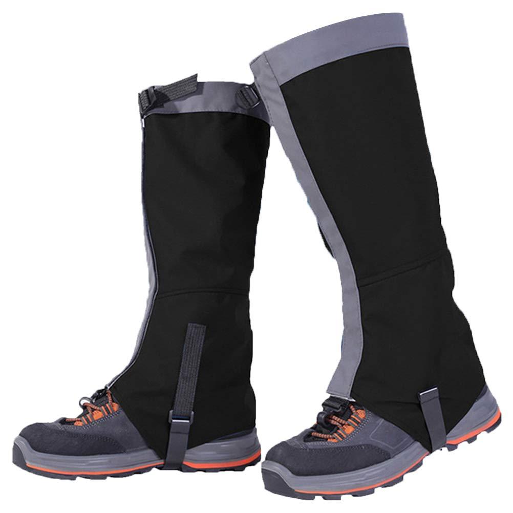 Kenyaw Polainas Impermeables Al Aire Libre Polainas Pantalones De Senderismo Al Aire Libre Escalada Nieve Senderismo Errante Caminar Escalada Caza Polainas De Nieve Negro//M