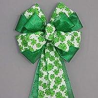 Green Shamrock Metallic St Patrick's Day Bow