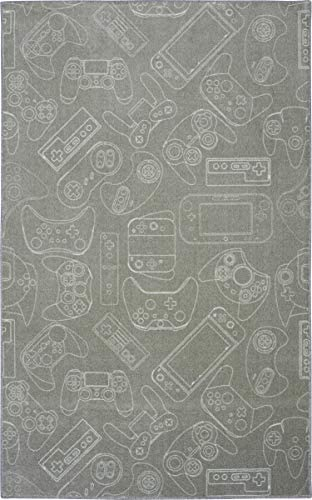 Mohawk Home Prismatic In In Control Gamer Gray Printed Contemporary Kids Area Rug, 8 x10 ,