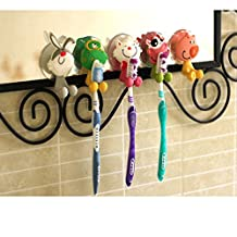Toothbrush Holder,BestCatgift Toothbrush Cover Holder with Suction Cup,-5 Kinds Of Animal Shaped Toothbrush Holder.