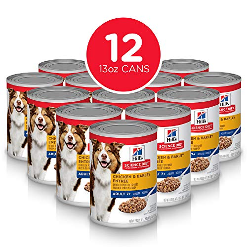 Hill's Science Diet Wet Dog Food, Adult 7+ for Senior Dogs, Chicken & Barley Recipe, 13 oz Cans, 12-pack